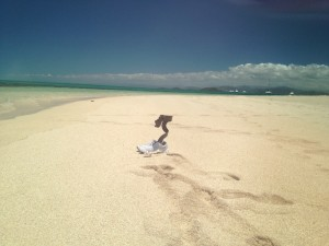 Orthosis InnovPulse in a beach in New Zeland